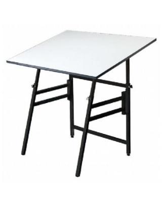 "Alvin MODEL XI-3-XB - 31"" x 42"" Professional Table - Black Base, White Top ES7272"