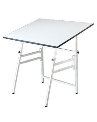 "Alvin MODEL X-4-XB - 24"" x 36"" Professional Table - White Base, White Top ES7274"