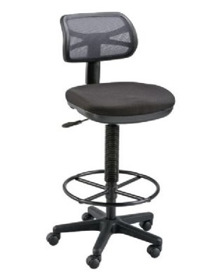 Alvin DC710-40 - Griffin Black Drafting Height Chair ES7283