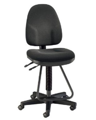 Alvin DC555-40 - Black Executive Drafting Height Monarch Chair ES7286