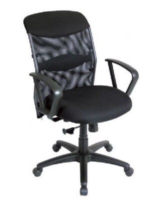 Alvin CH726 - Salambro Mesh Fabric Managers Chair - Office Height ES7296