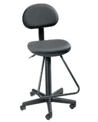Alvin DC204 - Black Economy Drafting Height Chair ES7489