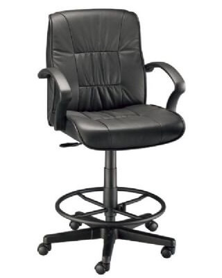 Alvin CH777-90DH - Art Director Executive Leather Chair - Drafting Height ES7490