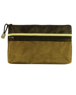 Alvin Dual Zippered Pocket Fabric Mesh Bag (5 Sizes Available)