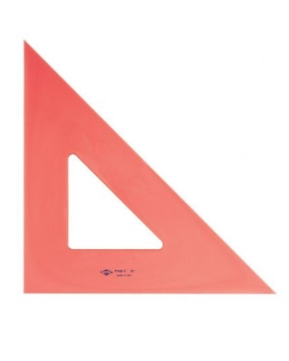 Alvin Fluorescent Triangle - 45 Degrees/90 Degrees (5 Sizes Available) ES7500