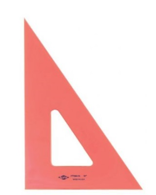 Alvin Fluorescent Triangle - 30 Degrees/60 Degrees (5 Sizes Available) ES7501
