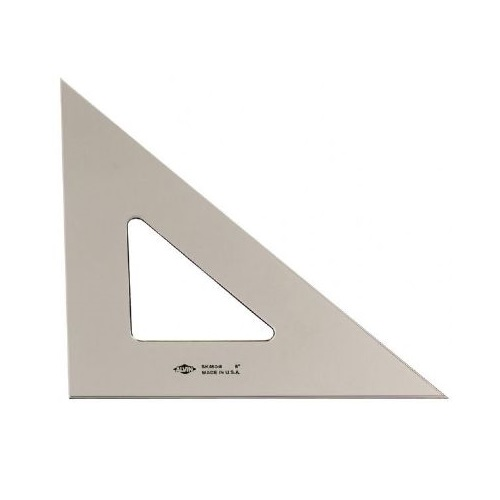 Alvin Smoke-Tint 45 Degree/90 Degree Triangle (5 Sizes Available)