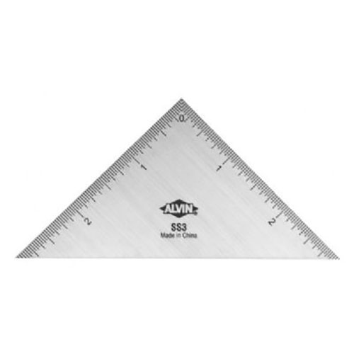 Alvin Ss3 3 Quot Triangle Stainless Steel Ruler Engineersupply