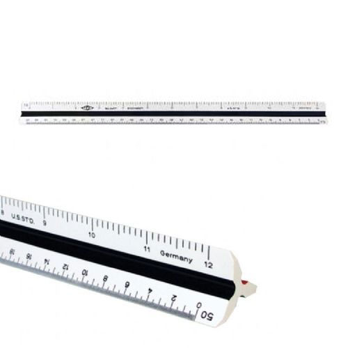 Alvin 241P - 12 High Impact Plastic Engineer Triangular Scale