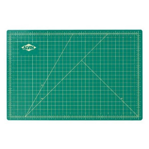 Alvin GBM0812 - GBM Series 8 1/2 x 12 Green/Black Professional Self-Healing Cutting Mat