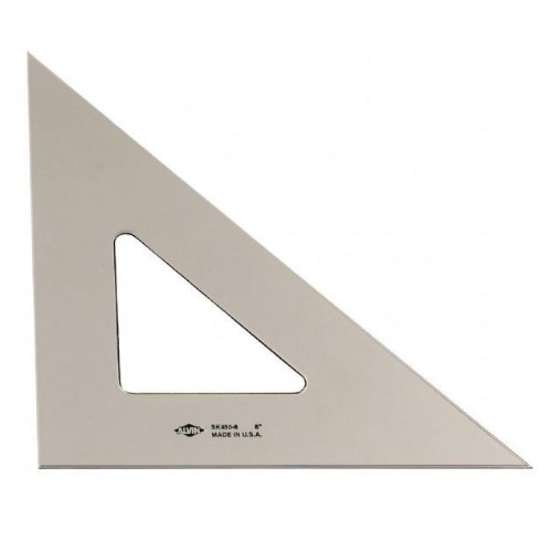 "Alvin SK450-8 - 8"" 45/90 Degree Smoke-Tint Triangle"