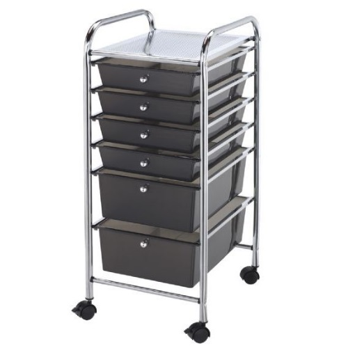 Alvin SC6SM - Blue Hills Studio Storage Cart - Standard and Deep 6-Drawer