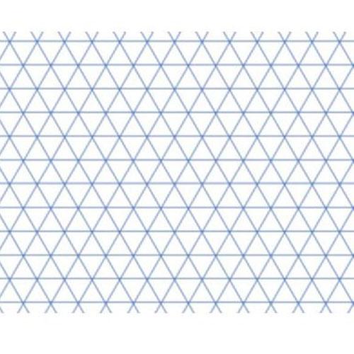 Alvin 6855iso 7 Alva Line Isometric Grid Pad 11 Quot X 17