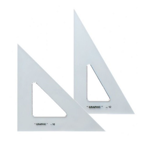 Alvin AS1012 - 10 and 12 Transparent Triangle Set