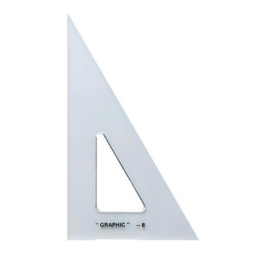 Alvin S1390-8 - 8 Academic Transparent Triangle - 30/60 Degree