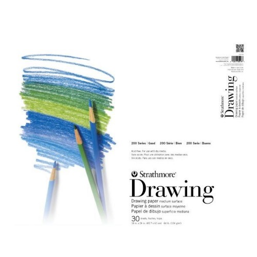 "Strathmore ST25-009 - 200 Series 9"" x 12"" Drawing Pad - Tape Bound"