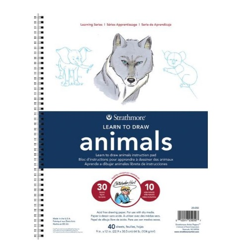 Strathmore ST25-050 - 200 Series Learning Series Pad - Learn Animals