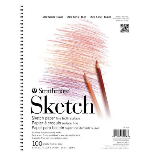 "Strathmore ST25-508 - 200 Series 8 1/2"" x 11"" Sketch Pad - Wire Bound"