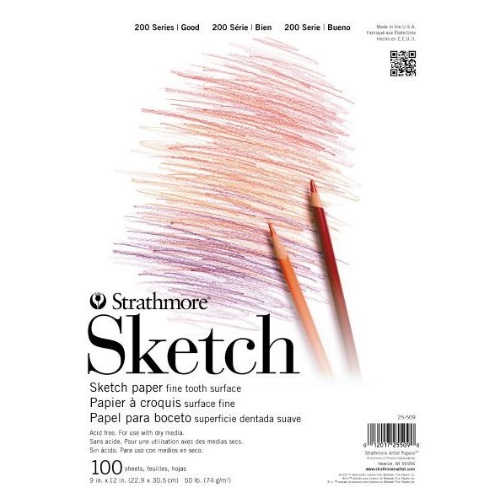 "Strathmore ST25-509 - 200 Series 9"" x 12"" Sketch Pad - Tape Bound"