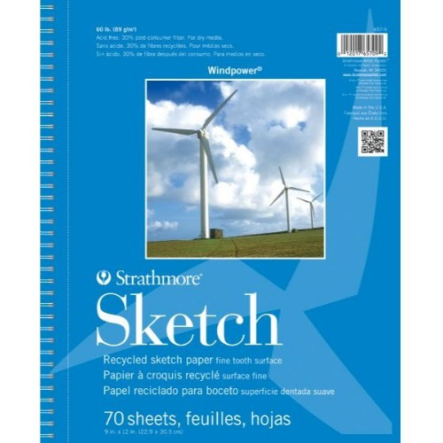 Strathmore ST657-9 - Windpower 9 x 12 Sketch Pad - Wire Bound