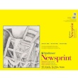 "Strathmore ST307-18 - 300 Series 18"" x 24"" Smooth Newsprint Pad - Tape Bound ES8437"