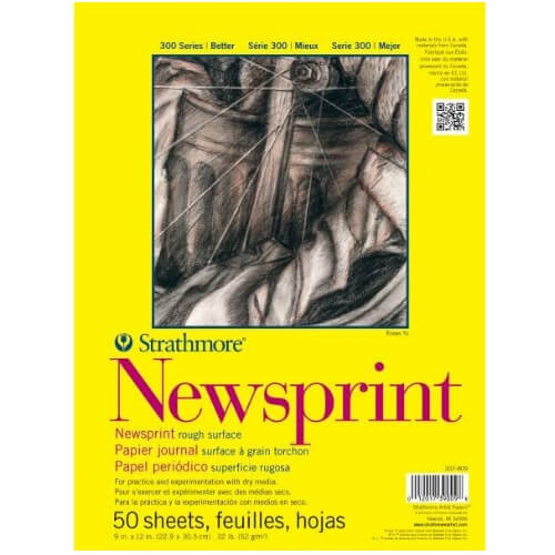 "Strathmore ST307-809 - 300 Series 9"" x 12"" Newsprint Pad - Tape Bound"