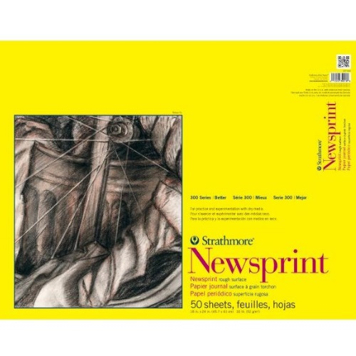 "Strathmore ST307-818 - 300 Series 18"" x 24"" Rough Newsprint Pad - Tape Bound"