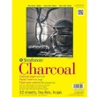 "Strathmore ST330-109 - 300 Series 9"" x 12"" White Charcoal Pad - Glue Bound ES8442"