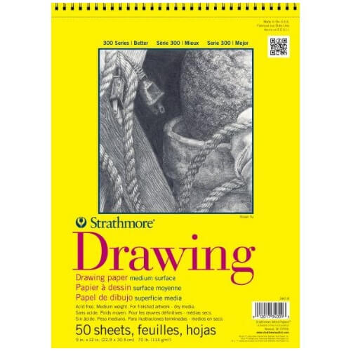 "Strathmore ST340-11 - 300 Series 11"" x 14"" Drawing Pad - Wire Bound"