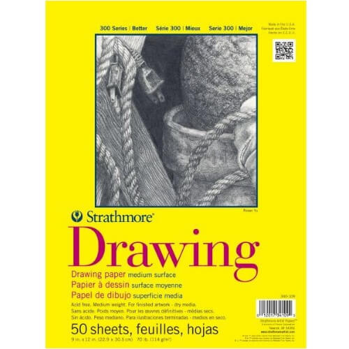 "Strathmore ST340-109 - 300 Series 9"" x 12"" Drawing Pad - Glue Bound"