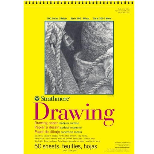 "Strathmore ST340-318 - 300 Series 18"" x 24"" Drawing Pad - Wire Bound"