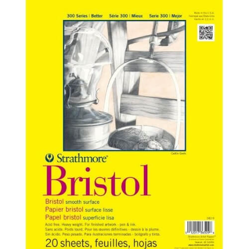 Strathmore ST342-11 - 300 Series 11 x 14 Smooth Bristol Pad - Tape Bound
