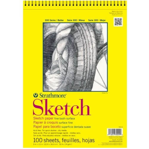 Strathmore ST350-9 - 300 Series 9 x 12 Sketch Pad - Wire Bound