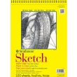 "Strathmore ST350-14 - 300 Series 14"" x 17"" Sketch Pad - Wire Bound ES8462"