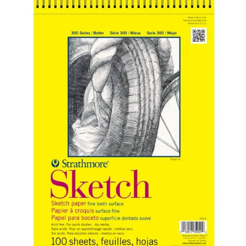 Strathmore ST350-18 - 300 Series 18 x 24 Sketch Pad - Wire Bound