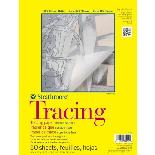 "Strathmore ST370-9 - 300 Series 9"" x 12"" Tracing Pad - Tape Bound"