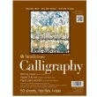"Strathmore ST405-11 - 400 Series 8 1/2"" x 11"" Calligraphy Pad - Tape Bound ES8485"