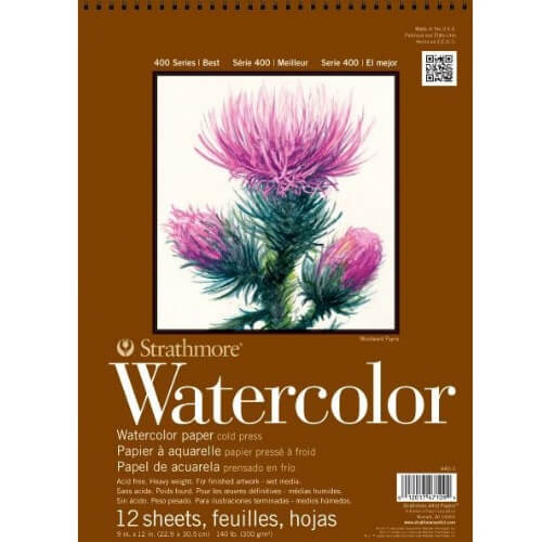 Strathmore ST440-1 - 400 Series 9 x 12 Cold Press Watercolor Pad - Wire Bound