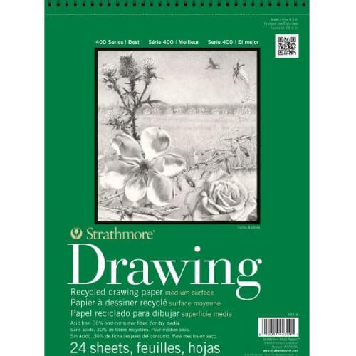 Strathmore ST443-14 - 400 Series 14 x 17 Recycled Drawing Pad - Wire Bound