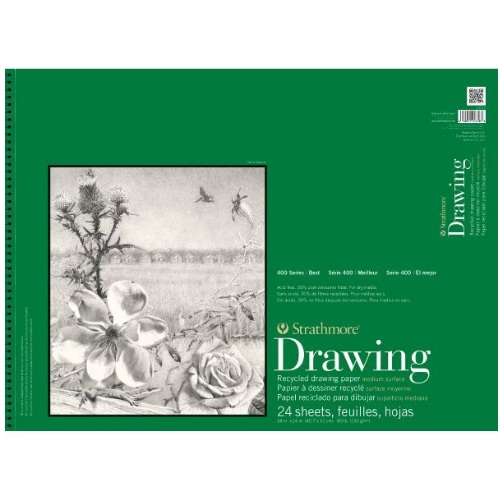 Strathmore ST443-18 - 400 Series 18 x 24 Recycled Drawing Pad - Wire Bound