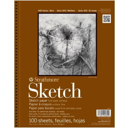 Strathmore ST455-3 - 400 Series 9 x 12 Sketch Pad - Wire Bound