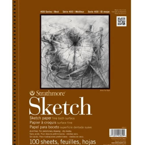 Strathmore ST455-4 - 400 Series 11 x 14 Sketch Pad - Wire Bound