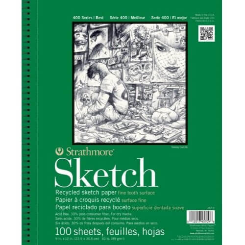Strathmore ST443-11 - 400 Series 11 x 14 Recycled Drawing Pad - Wire Bound