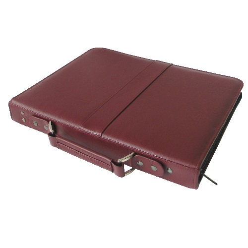 "Alvin PCL811-BU - Prestige Premier Burgundy Series Leather Presentation Case - 8.5"" x 11"""