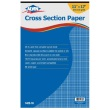 "Alvin 1422-10 - 11"" x 17"" Cross Section Paper with 10"" x 10"" Grid - 50 Sheet Pad ES9005"
