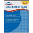 "Alvin 1422-15 - 17"" x 22"" Cross Section Paper with 10"" x 10"" Grid - 50 Sheet Pad ES9006"