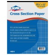 "Alvin 1422-5 - 8.5"" x 11"" Cross Section Paper with 10"" x 10"" Grid - 50 Sheet Pad ES9007"
