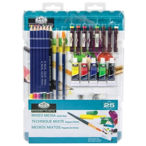 Royal and Langnickel Essentials - Mixed Media Artist 25 Piece Pack - RD580