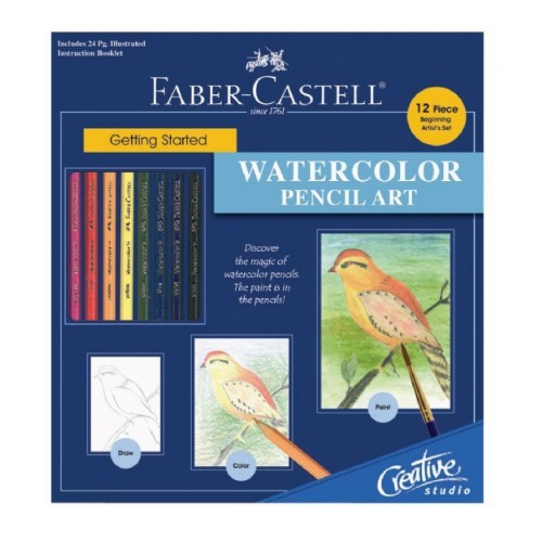 Faber-Castell Creative Studio - Getting Started Watercolor Pencil Art Set - FC800094