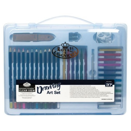 Royal and Langnickel Essentials - Clear View Large Art Case Drawing Set - RSET-ART3204